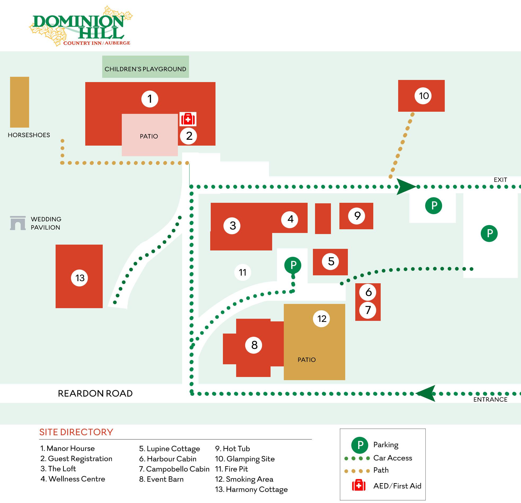 Dominion HIll Map