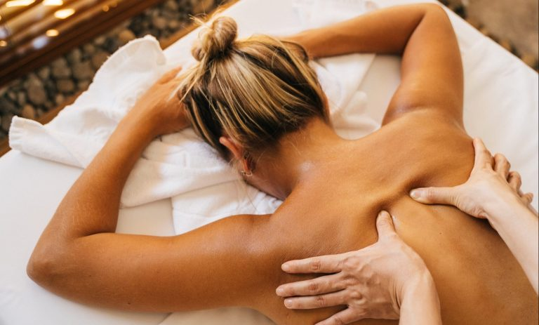 Lady receiving massage